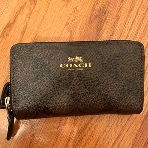 Coach Double Zip Small Wallet